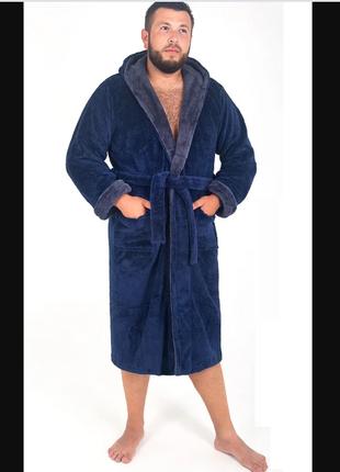 Халат махровый мужской , пушистый теплый