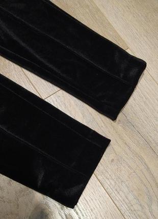 Тренд: бархатні велюрові штани скіни з поясом5 фото