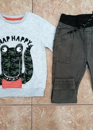 Стильный комплект: теплый свитшот теплая кофта кофточка и джинсы joggers