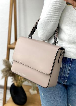 Шкіряна сумочка італійського виробника/ женская сумка/ сумка кожаная/ кроссбоди