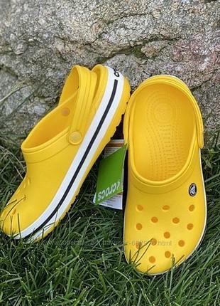 Кроксы crocs yellow2 фото