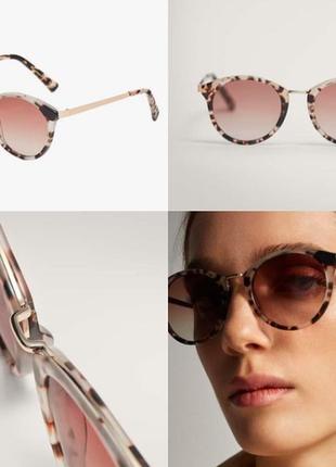 Солнцезащитные очки с металлическим мостиком massimo dutti