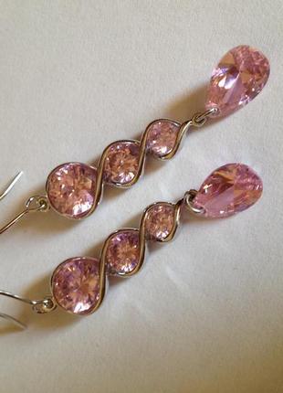 Серьги стильные яркие кристаллы