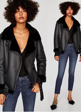 Zara байкерская куртка