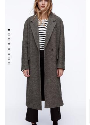 Обалденное демисезонное пальто оверсайз zara