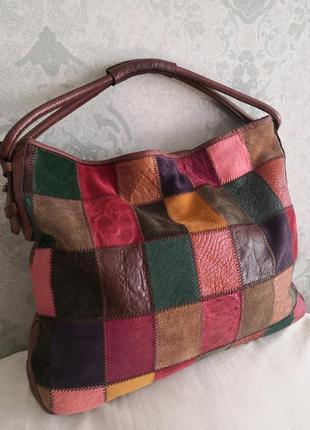 Роскошная большая кожаная сумка sobea, италия💣💣🌹💥🔥
