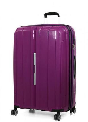 В наличии стильный чемодан на колесах полипропилен snowball 83803
