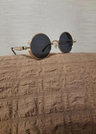 В наличии стильные солнцезащитные круглые очки, очки ретро, очки в стиле стимпанк