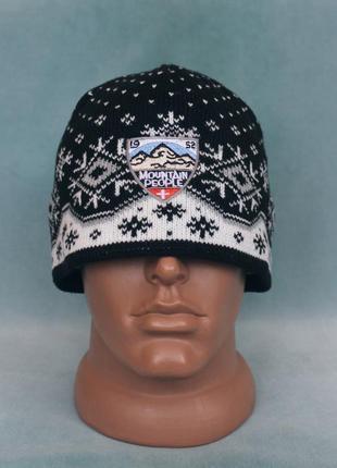 Mountain people шапка вязаная с флисовой подкладкой
