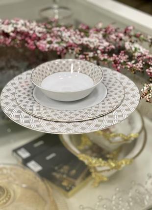 Новинка!!набор фарфоровых тарелок 💎1 фото