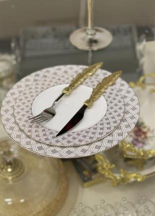 Новинка!!набор фарфоровых тарелок 💎2 фото