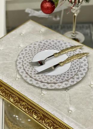 Новинка!!набор фарфоровых тарелок 💎3 фото