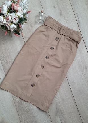 Трендова  юбка міді