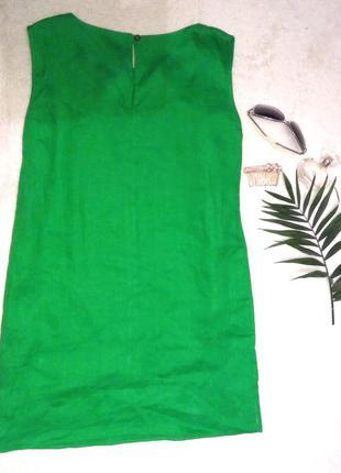 Яркое льняное платье галерея льна,р.42-46 свободное,модель молли