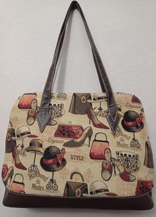 Оригинальная сумка в винтажном стиле , гобелен, royaltex