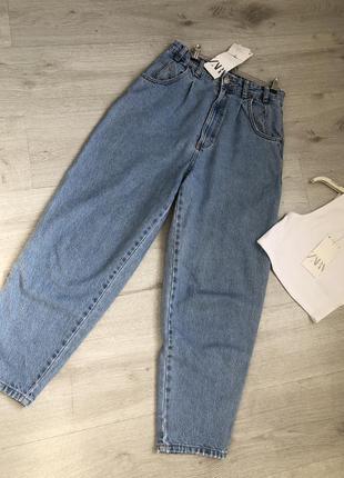 Голубые джинсы слоуч от zara