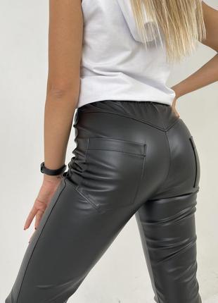 Лосины штаны из экокожи family look. все размеры