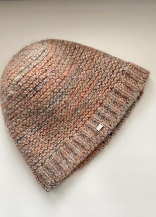 Шерстяная вязаная шапка tommy hilfiger