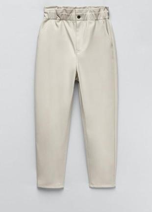 Кожаные брюки baggy zara original spain