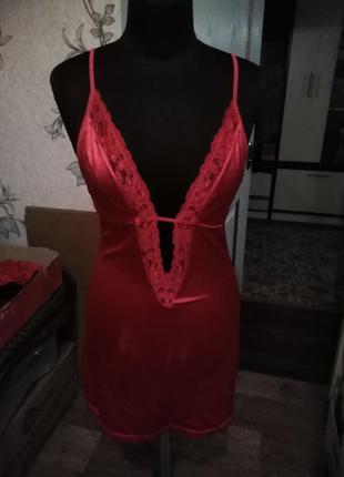 Облегающее платье-комбинация стрейч/есть нюанс.