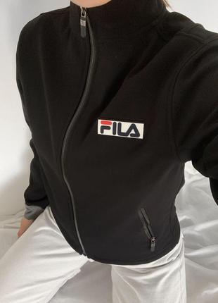 Черная куртка курточка fila чорна