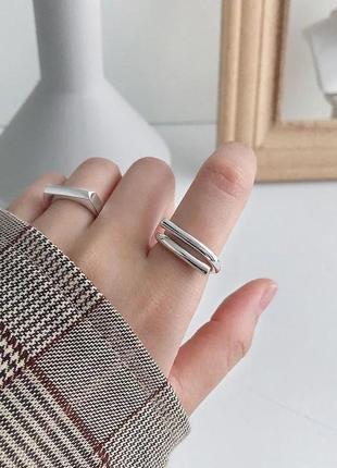 Необычное кольцо серебряное серебро 925 посеребрение регулируемое каблучка