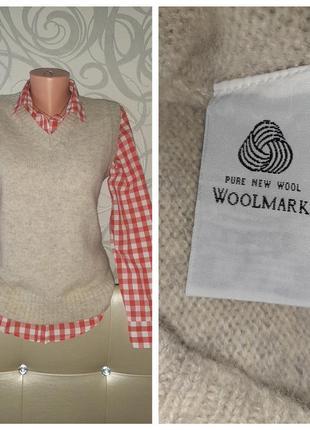 Жилет l.o.g.g.h&m 100% шерсть woolmark