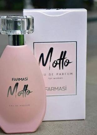Женская парфюмированная вода motto farmasi, 50мл