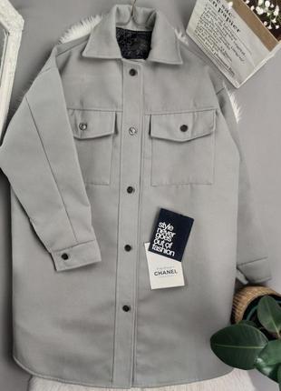 Новое пальто рубашка с карманами оверсайз