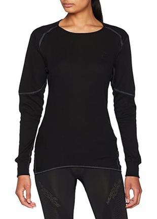 Женская топовая термокофта  odlo bl top crew neck active x-warm eco.
