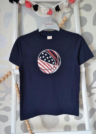 Спортивная футболка gemboree синяя: 8 лет/129-137 см