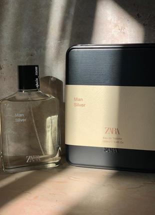 Духи zara silver/чоловічі парфуми /туалетна вода /мужской парфюм