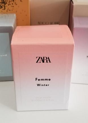 Туалетная вода духи zara femme winter, 100 мл