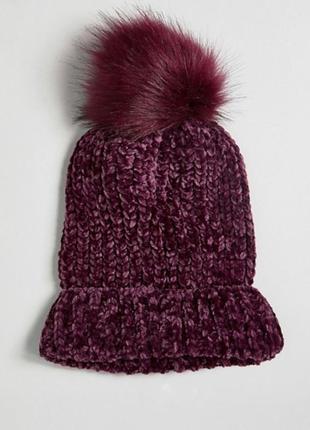 Стильная велюровая шапочка