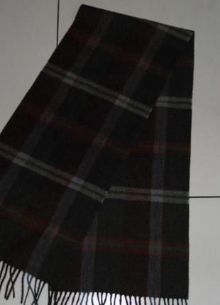 Prochownick 100% шерсть теплый шарф бахрома - италия сток