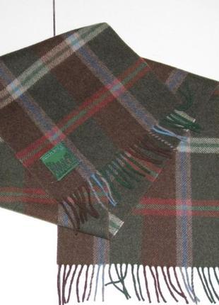 Prochownick 100% шерсть теплый шарф бахрома - италия сток3 фото