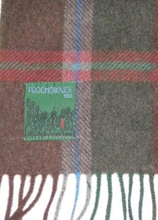 Prochownick 100% шерсть теплый шарф бахрома - италия сток2 фото