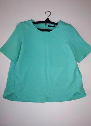 Мятная блуза m&s 14 размер, евр.42, наш 46-48