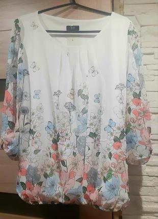 Нарядная,нежная, модная блуза, шифон. новая.