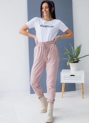 Трикотажные спортивные штаны на резинке разные цвета