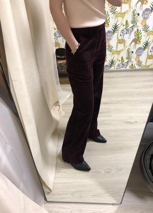 Вельветовые брюки штаны клёш широкие прямые