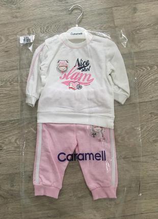Красивый новый спортивный костюм для девочки caramell