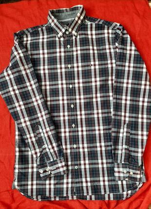 Брендовая мужская рубашка сорочках с длинным рукавом tommy hilfiger