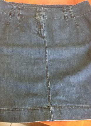 Отличная джинсовая юбка, размер 16uk, наш 50-52