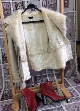 Меховая тёплая куртка
