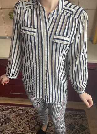 Шифоновая блуза рубашка