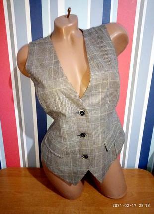 Распродажа! женская классическая жилетка в клетку бренд ichi