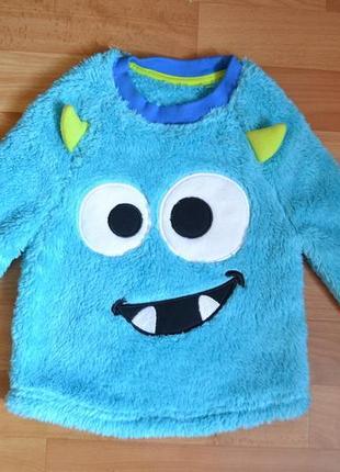 Кофта, реглан на мальчика 2-3 года, свитер монстрик