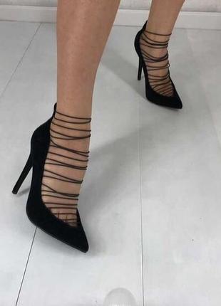 Черные туфли лодочки missguided
