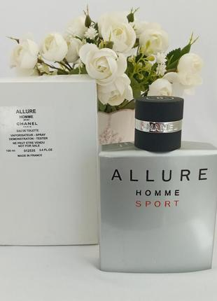 Chanel allure sport шанель алюр мужские духи парфюмированная вода тестер